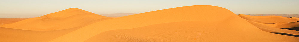 The Sahara Desert in M'Hamid, Morocco