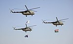 Mi-8 helicopters at Aero India 2015.jpg