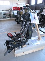 Ejector seat of MiG-21 bis fighter.
