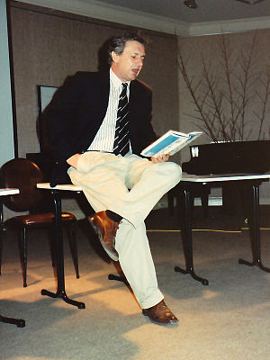 Michael Wilding (writer) - Gangan Verlag book launch at the Goethe-Institut Sydney (1991)