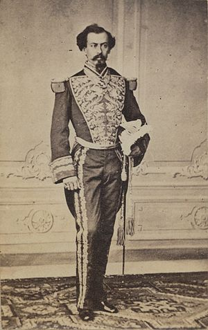 Miguel Miramón - Miguel Miramón wearing a general's court dress during Maximilian's reign