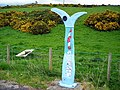 Milepost on National Cycle Route 7 - geograph.org.uk - 431723.jpg