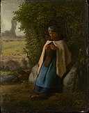 Mille - Shepherdess Seated on a Rock - Metropolitan.jpg