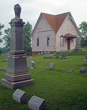 Millville Cemetery - Graves and chapel, 2010