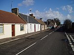 Milton of Balgonie, Fife. Looking east down the main street of this small village between Glenrothes and Windygates.