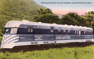 Missouri and North Arkansas Railroad - Missouri and Arkansas Railway Company motor car