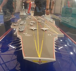 Model aircraft carrier project 23000E at the «Army 2015» 2.JPG