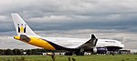 Monarch Airlines Airbus A330-200 at Leeds Bradford Airport (Taken by Flickr user 8th September 2009).jpg