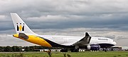 Monarch Airlines Airbus A330-200 at Leeds Bradford Airport (Taken by Flickr user 8th September 2009)