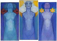 Mondrian, Evolution (Triptychon), 1911.jpg