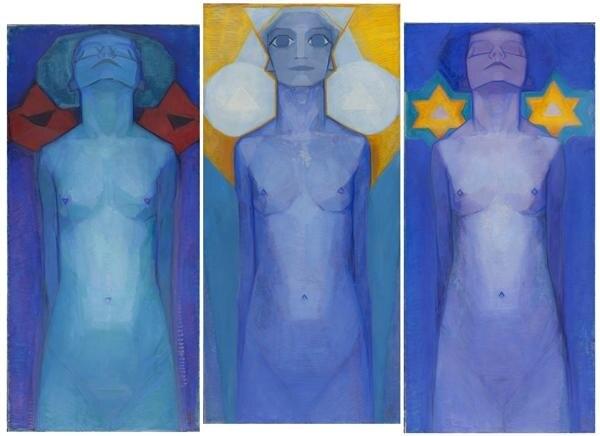 Mondrian, Evolution (Triptychon), 1911