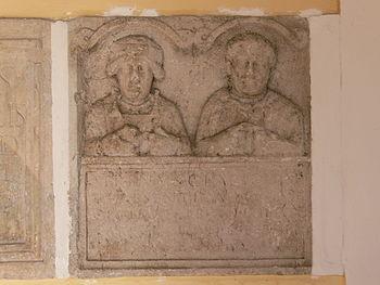 Roman gravestone in Mondsee Monastery