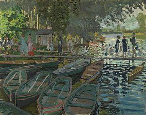 Bain à la Grenouillère - Bathers at la Grenouillére, Claude Monet. (Oil on canvas, 74.6 cm x 99.7 cm)