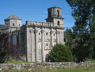 Monfero Abbey - The church from the north-west