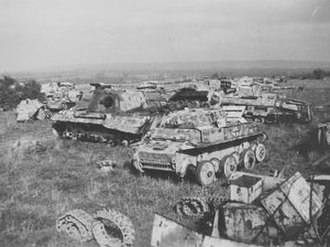 Operation Tractable - German equipment destroyed near Mont Ormel