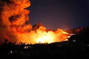 Tea Fire - Image: Montecito Tea Fire