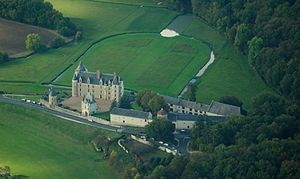Château de Montpoupon - Château de Montpoupon, aerial view