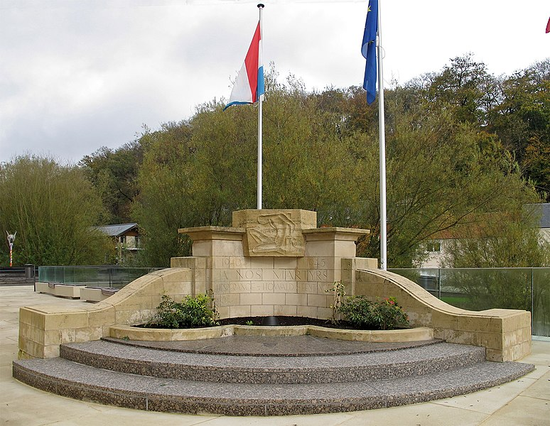 War memorial WWII, Monument aux Morts, Hesperange, Luxembourg