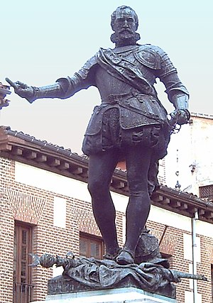 Álvaro de Bazán, 1st Marquis of Santa Cruz - Statue in Madrid (Mariano Benlliure, 1891)
