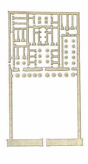 Mortuary Temple of Seti I - Plan of the temple