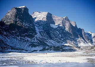 Mount Odin mountain in Qikiqtaaluk, Nunavut, Canada