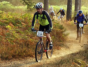 Mountain bike - A cross country mountain bike race.