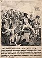 Mr. Lambkin drunk on champagne sitting in a carriage at Epso Wellcome V0011254EL.jpg