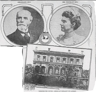Dorchester House - Whitelaw Reid and Mrs Reid in the Washington Times in 1910.