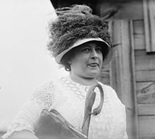 Middle-aged Maude McCay in a hat