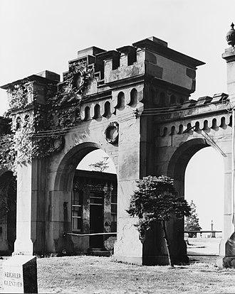 Stephen Decatur Button - Mount Moriah Cemetery Gatehouse