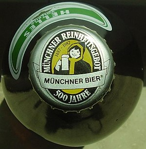 "Reinheitsgebot - Some German brewers continue to use the word ""Reinheitsgebot"" in labeling and marketing."