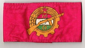 Workers' Militia - Armband of the Hungarian Workers' Militia.