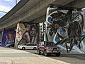 Murals at Gold Coast railway line viaduct supports.jpg