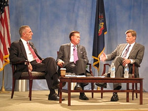 Kenneth Melani - Melani (center) at a 2011 healthcare summit with Congressmen Timothy F. Murphy (left) and Jason Altmire (right).