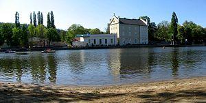 Museum Kampa - View of Museum Kampa from Střelecký ostrov.