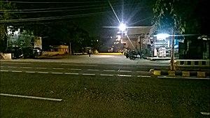 MVP Colony bus station - MVP Colony bus station on a night