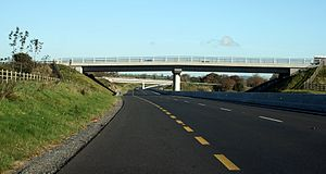 High-quality dual carriageway - N11 HQDC Gorey Bypass prior to re-designation as M11 motorway.