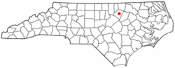 Location of Louisburg, North Carolina