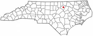 Louisburg, North Carolina - Image: NC Map doton Louisburg