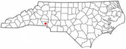 Location of Spencer Mountain, North Carolina