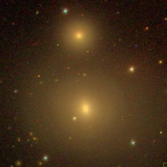 NGC 507 - SDSS view of NGC 507 (bottom) and NGC 508 (top)