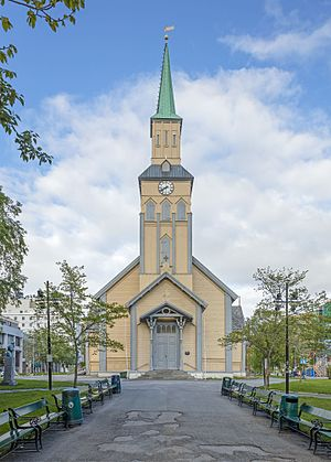 Tromsø Cathedral - Image: NOR 2016 Tromsø Tromsø Cathedral