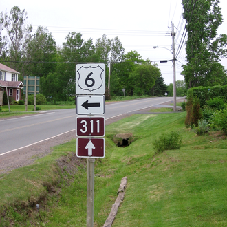 Nova Scotia Route 311 - Start of Route 311 in Tatamagouche, Nova Scotia