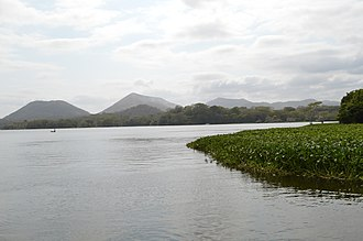 Los Tuxtlas - Lake Catemaco and mountains as seen from the Nanciyaga Ecological Reserve