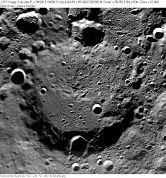Nansen (lunar crater) - Clementine mosaic