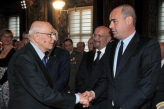 Nicola Zingaretti - Zingaretti with President Napolitano in 2012