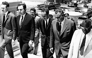Abdul Rahman Arif - From left to right, Houari Boumediene of Algeria, Nureddin al-Atassi of Syria, Abdul Rahman Aref of Iraq, Gamel Abdel Nasser of Egypt, and Ismail al-Azhari of Sudan in 1968