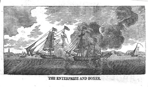 USS Enterprise (1799) - Engraving by Abel Bowen