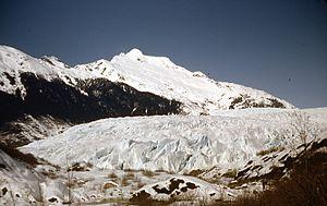 Mendenhall Glacier - The Glacier in March, 1953