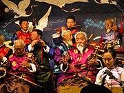 Chinese Naxi musicians